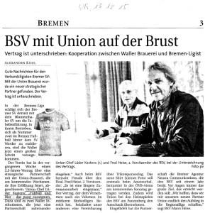 Forum Sport Alkoholwerbung BSV mit Union