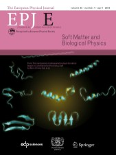 Cover page of European Physical Journal E