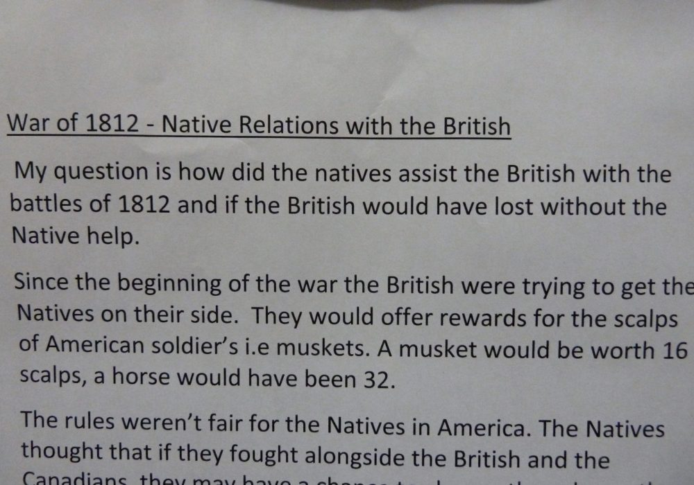 How did the Natives assist the British and would the British have lost without them?
