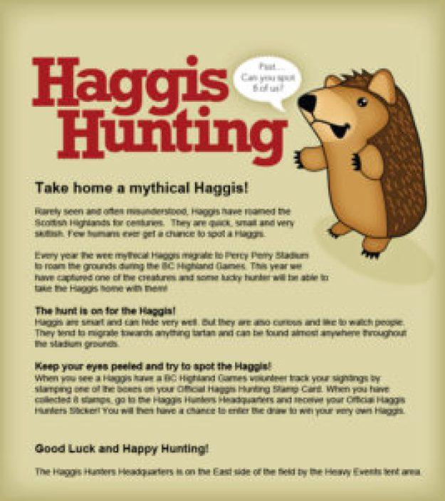 Haggis Hunt Notice