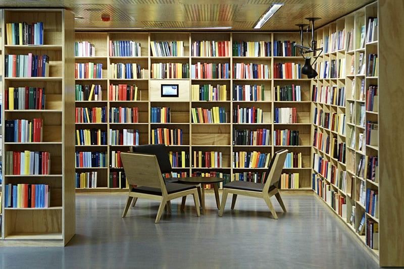 BCI Modern Library Design Utilizing Building Interior