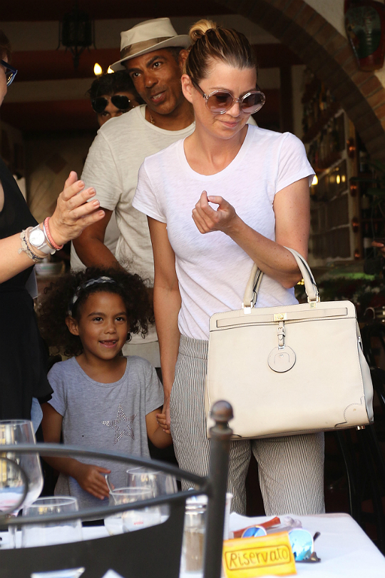ELLEN POMPEO AND THE FAMILY SPEND TIME OUT IN ITALY