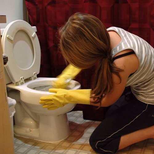 Как эффективно почистить унитаз