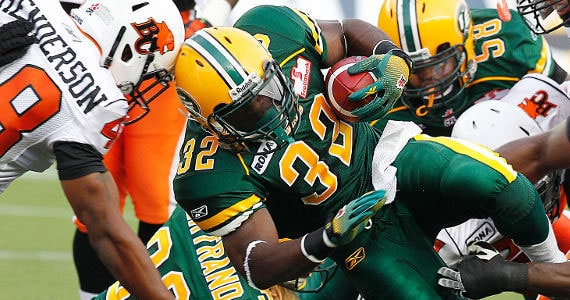 Kick em when they're down. Lions maul depleted Eskimos for second win of the year.