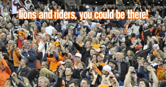 Contest >> Lions and Riders battle at BC Place on Sunday; Win two tickets!