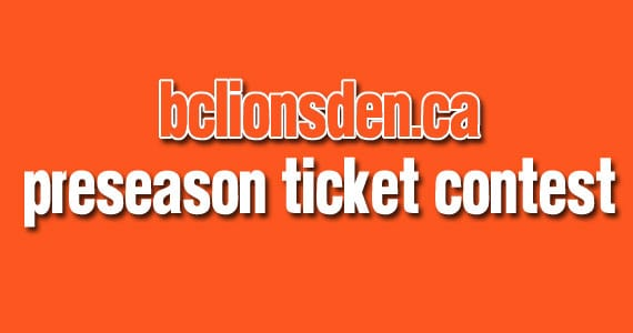Win tickets to the BC Lions and Edmonton Eskimos this Friday!