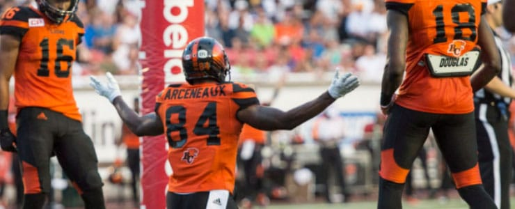 Manny Arceneaux and the Lions will look to fly again vesrus Hamilton. Image: BC Lions/Twitter
