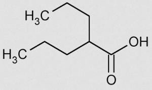 Figure 1: Valproic acid, a small molecule inhibitor of HDAC