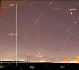 Auriga Starmap Superimposed on Beacon Photograph
