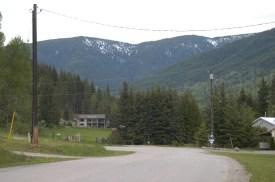 Top of Wynndel's Steep Paved Road