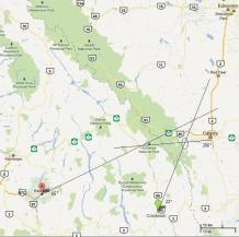 Calgary Fireball Triangulation
