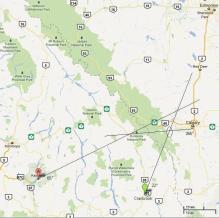 Calgary Fireball Triangulation