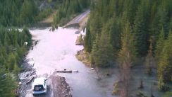 Washout at Forsyth Rec Site