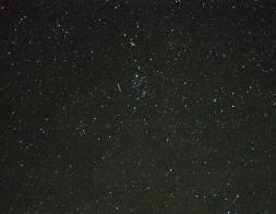 Short Green Meteor Trails in Perseus