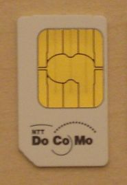 English: Photo of a SIM Card from a Japanese F...
