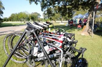 Bikes on a break