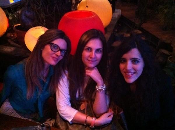 con Elena de Just my Clothes y Sara de Poppy Jota