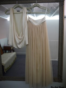 vestido novia dos piezas