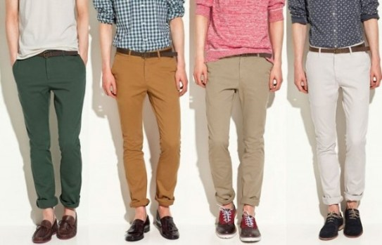Pantalones remangados hombre