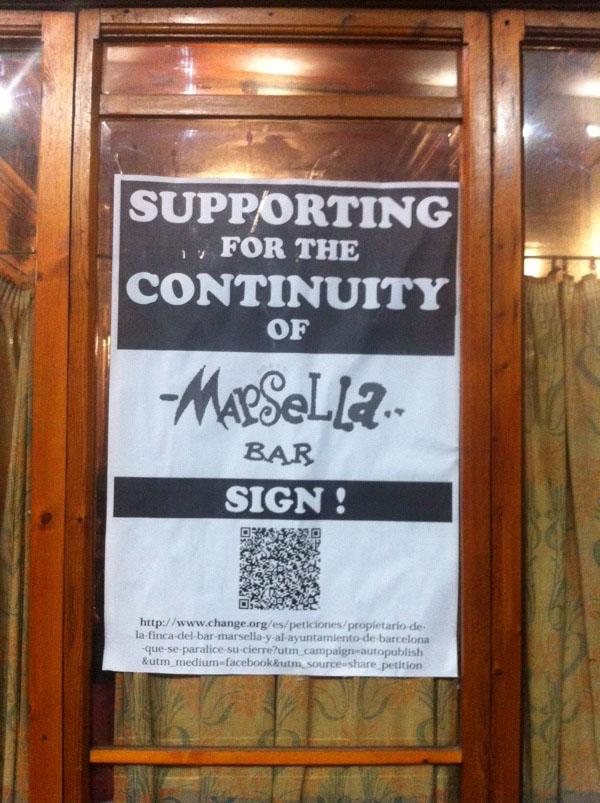 peticion bar marsella barcelona