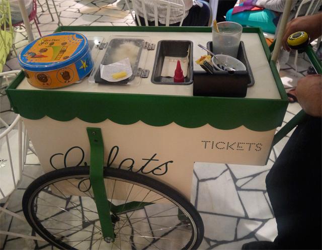 carrito helados ticket restaurante barcelona