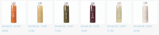 plan detox organismo 6 zumos