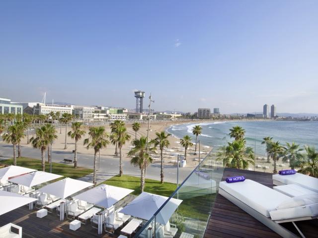 Extreme Wow Cabana terraza hotel w barcelona