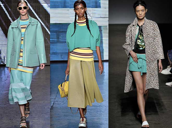 Lucite Green: DKNY - Tracy-Reese s/s 2015 NYFW