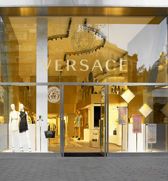 Versace Barcelona_external facade boutique
