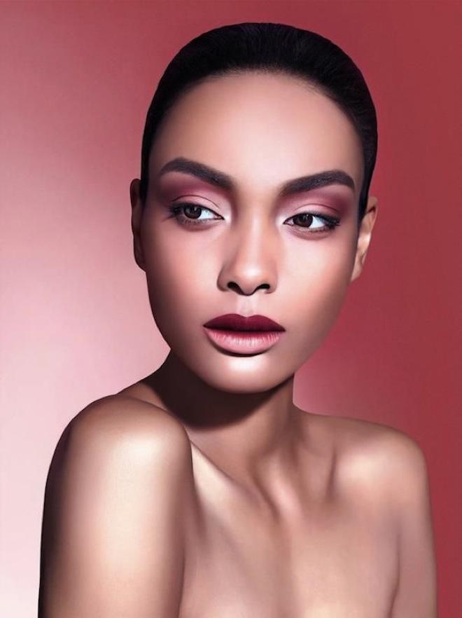 maquillaje marsala