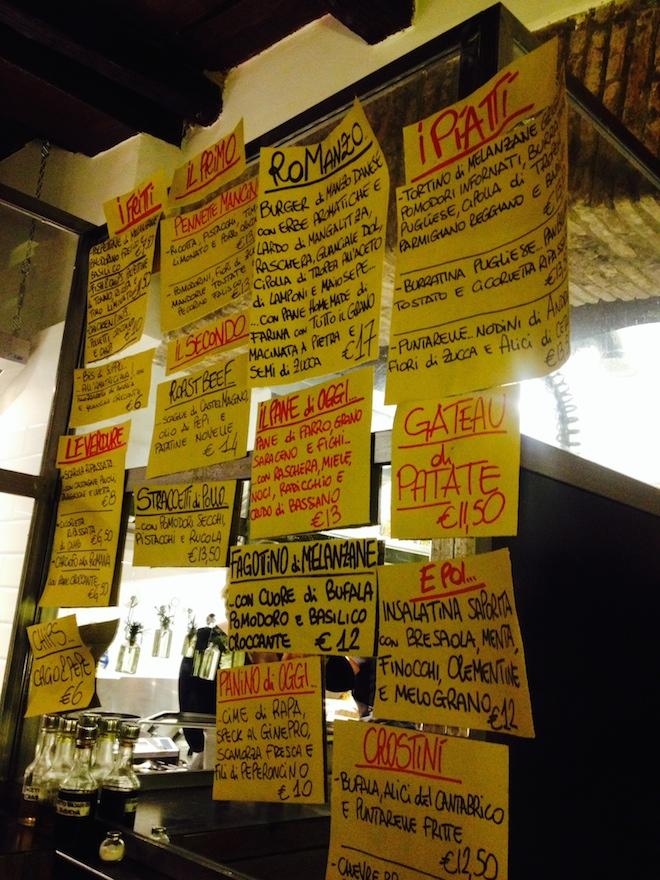 pianostrada roma menu street food