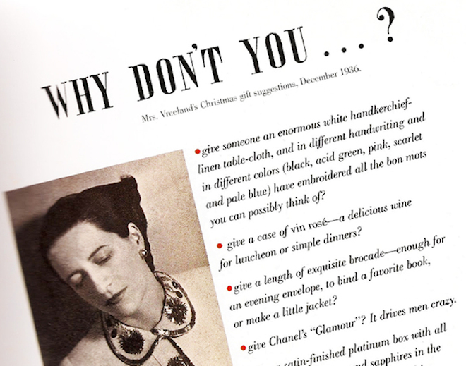 diana vreeland why dont you