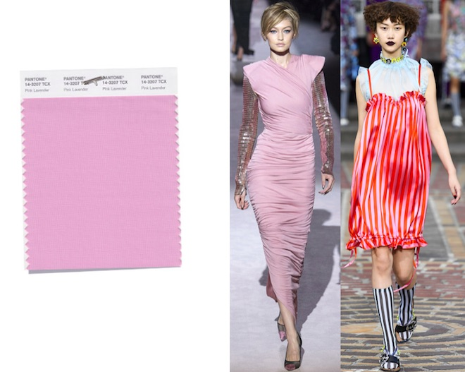 colores de moda primavera verano 2018 Pink Lavender