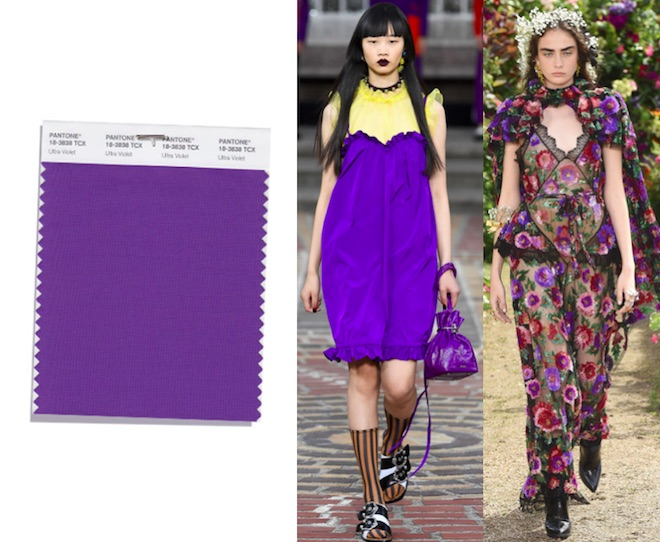 colores de moda primavera verano 2018 ultra violet