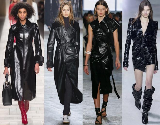 tendencias moda invierno 2017 cuero negro