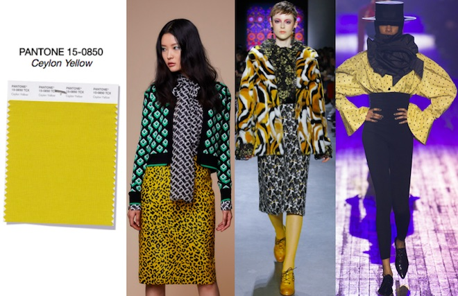 colores de moda invierno 2018 Ceylon Yellow