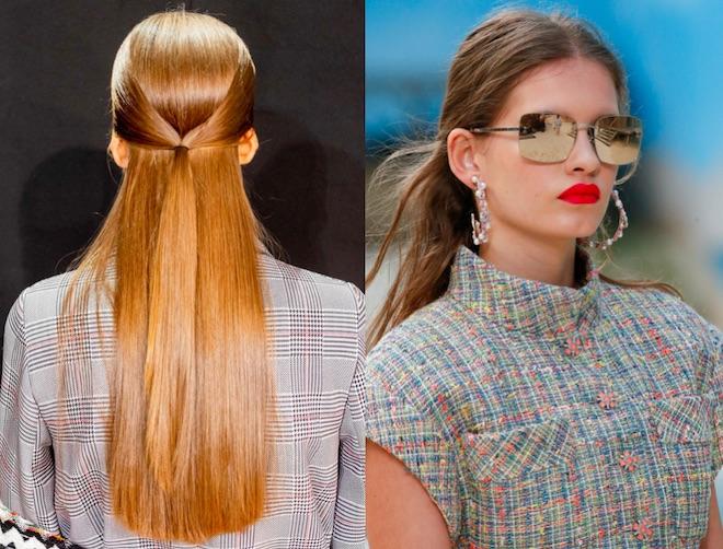 peinados tendencias 2019 semirecogido