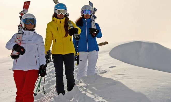 pantalones de esquí ajustados lastex