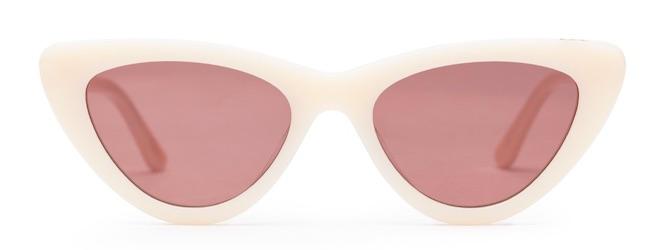 gafas de sol moda 2019 cateyes blancas