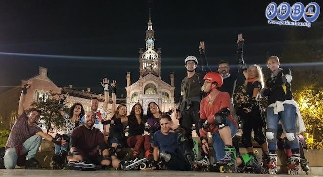 asociacion patinadores barcelona ruta