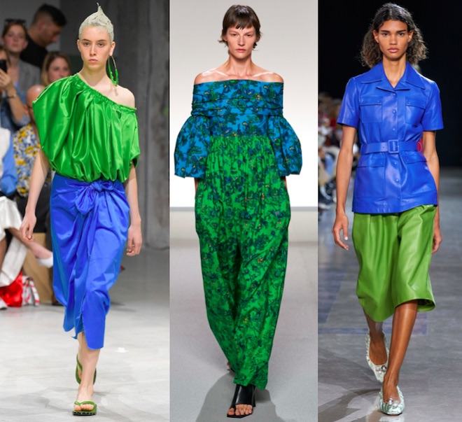 classic blue color de moda 2020 con verde