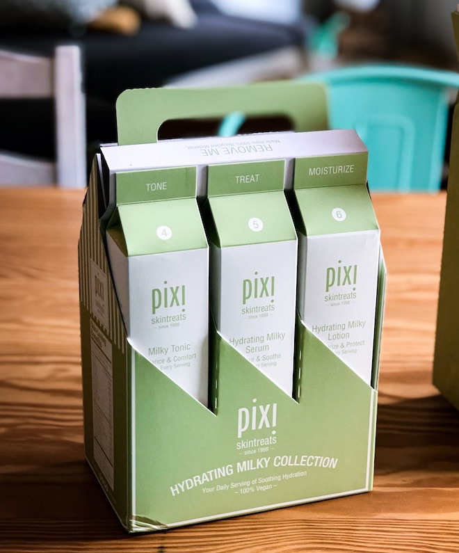 hydrating milky collection pixi skintreats