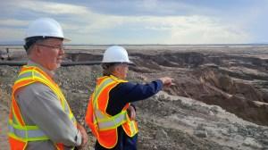 Horgan surveys Mount Polley mine