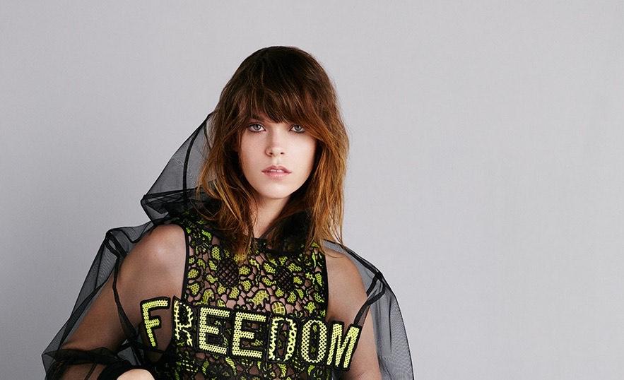 © MSGM. Imagen de la campaña de la colección femenina primavera verano 15 de la firma MSGM de Massimo Giorgetti.
