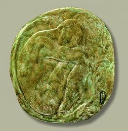 © Museo de Bellas Artes de Bilbao. Francisco Durrio.  Gran medallón con figura o El sueño de Eva. 1908