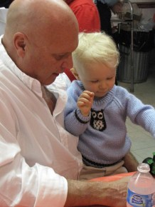 And with his grandpa