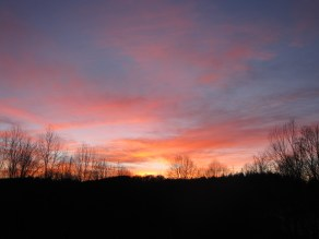 One winter sunset...