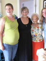 Me, my mom, my great aunt, and my younger sister