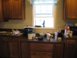 My messy kitchen while baking this afternoon