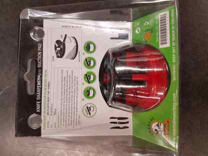 Knife Sharpener with suction pad back packaging